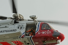 Coastguard Rescue Helicopter at St Michaels Mount (Exercise)
