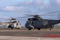 Sea King ASAC MK7 prepare for Exercise Kernow Flag