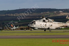 Merlin MK2 Helicopters take off to embark for Exercise Kernow Flag