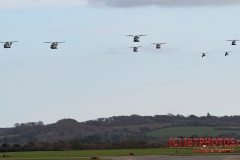 Flypast of RNAS Culdrose aviation assets participating in Exercise Kernow Flag