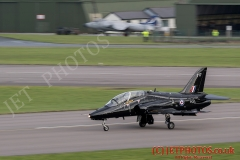 736 Squadron Hawk T1 jets touch down during Exercise Kernow Flag