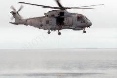 Wet Winching with RNAS Culdrose 814 Squadron Merlin MK2 Helicopter