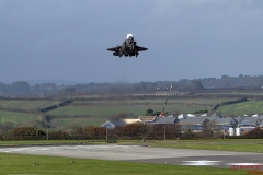 F35B Lightning II, practice approach at RNAS Culdrose for the first time today