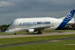 Airbus Airbus A300-600ST Beluga, F-GSTF postioning for take off at Hawarden Airport