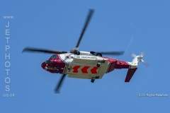 Coastguard Sikorsky S92A G-MCGK, overhead in the circuit at Hawarden airport