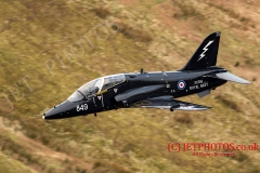 Royal Navy Hawk T1 low level flight in LFA7, Snowdonia, Wales