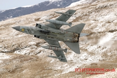 RAF Tornado GR4 Low Level flying training mission in LFA7, Snowdonia, Wales