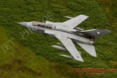 RAF Tornado GR4 on a low level flying sortie in the Mach Loop LFA7