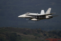 Royal Canadian Air Force McDonnell Douglas, CF 188A Hornet , low level flying training in the Mach Loop (LFA7) Wales