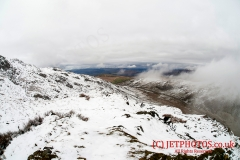 Onwe of the hilltops in snowdonia used for low level flying photography, superb scenic winter landscapes.
