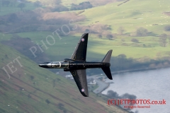 "RAF Hawk T1 ""Pirate 11/12"" Low Level flying training in LFA7, Mach Loop, Snowdonia Wales at Corris Corner"