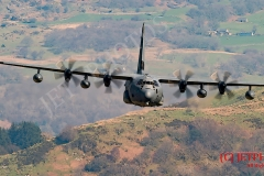 USAF MC-130 J Low Level Flying traing in LFA7, Mach Loop, Snowdonia, Wales