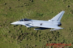 RAF typhoon low level flying in Wales