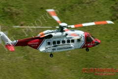 Coastguard Rescue 936 on route to incident in Wales, RTA on A470