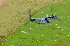 USAF CV-22B Osprey flying low level in Wales, Low Flying Area 7, (The Mach Loop)
