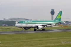 Aer Lingus A320-214, EI-DEH,  rolling for launch at Manchester Airport