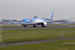TUI 787-8 Dreamliner, G-TUIE,  rolling for take off at Manchester Airport