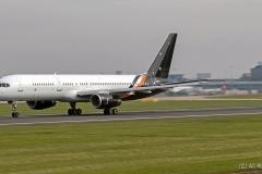 Titan Airways 757-256, G-ZAPX, rolling for take off at Manchester Airport