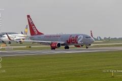 Jet2 Boeing 737-86N, G-GDFS, taxying for take off position at Manchester Airport