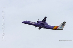 Flybe, Bombardier, DASH 8, Q400, G-JEDW at Manchester Airport