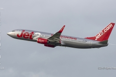 Jet2 Boeing 737-8MG, G-JZHR takes off from Manchester Airport