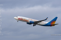 Jet2holidays Boeing 737-8KS, G-GDFU taking off at Manchester Airport