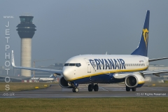 Ryanair Boeing 737-8AS, SP-RSN taxying for take off position at Manchester Airport