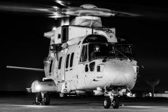 Royal Navy, Merlin MK4 Commando Helicopter of 845 NAS, Rotors Running