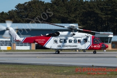 Bristow Sikorksky S92, Search and Rescue Coastguard Helicopter based at Newquay Airport UK