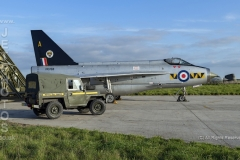 RAF Lightning XR768, nightshoot at Cornwall Aviation Heritage Centre