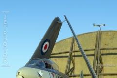 Royal Navy, Sea Hawk WV798 at a nightshoot at Cornwall Aviation Heritage Centre