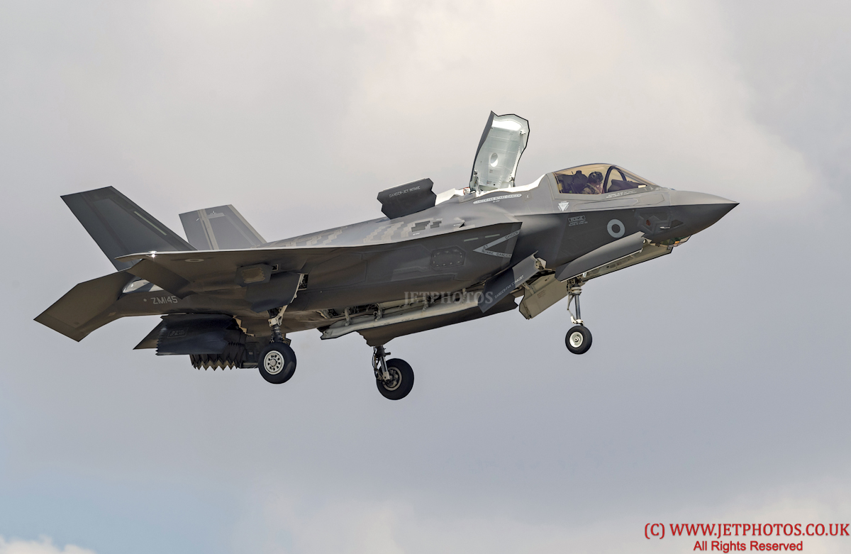 Lockheed Martin F-35B Lightning, UK, ZM145, RAF Marham 617 Squadron, flying in hover at RIAT 2018
