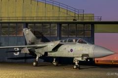 RAF Tornado GR4, ZD715, 12 Squadron (B), Lossiemouth at RAF Cosford/Threshold.Aero nightshoot