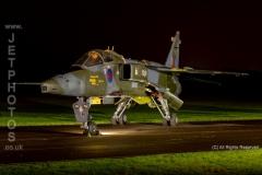 RAF Sepecat Jaguar, GR1, JB, XZ370, 17 Squadron, RAF Briggen at RAF Cosford/Threshold.Aero nightshoot