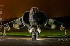 Harrier, GR3, XZ991 at RAF Cosford/Threshold.Aero nightshoot