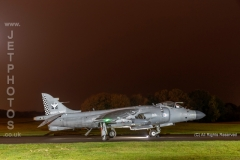 Royal Navy Sea Harrier, FA.2, ZH796, at RAF Cosford/Threshold.Aero nightshoot