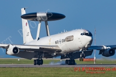 NATO E-3A Sentry in circuit at Newquay Airport/RAF ST Mawgan for about two hours on 20/1/2016