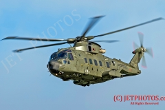 Royal Navy Merlin HC3 currently in RAF Livery