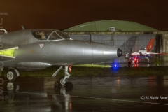 Hawker Hunter, T.7, XL573 at Threshold.Aero Day/Nightshoot at South Wales Aviation Museum